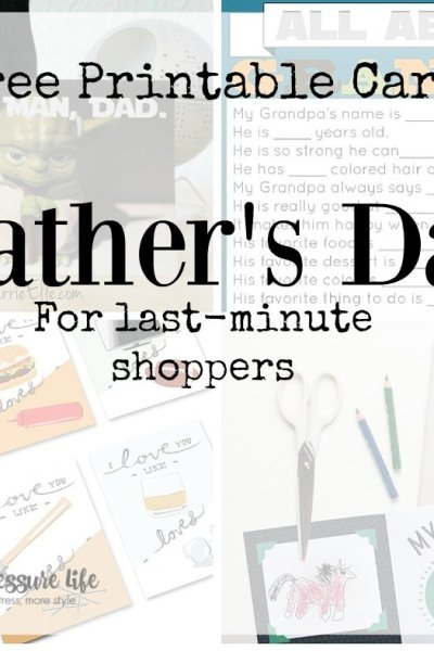 Father's Day is nearly here! If you're a last-minute shopper, here are 8 Father's Day printable cards that you can print at home.