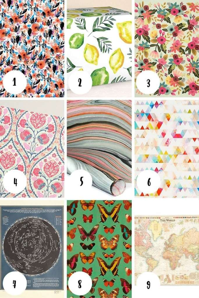Pretty Wrapping Paper Roundup