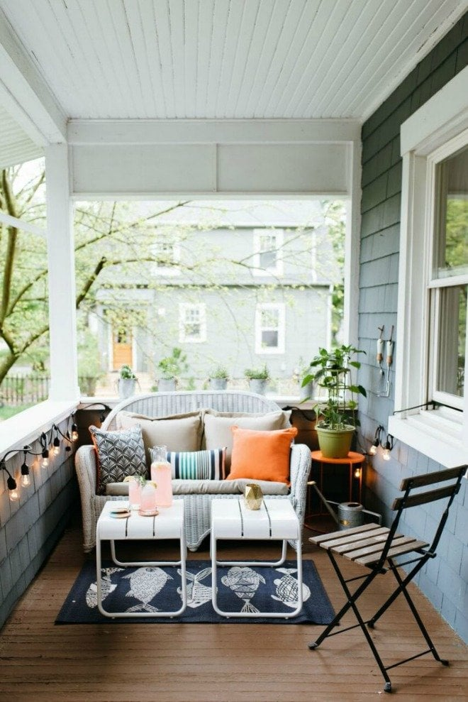 Please pin from the original source - scaled down porch furniture via The Every Girl