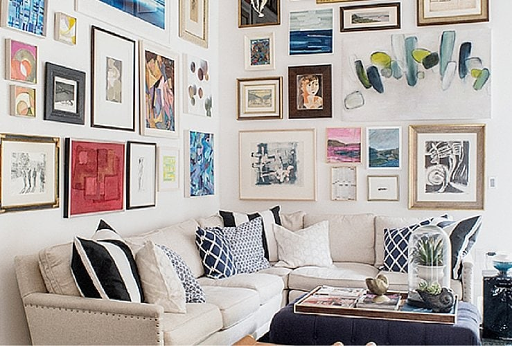 How to Decorate Above a Corner Sectional (and a room makeover!)