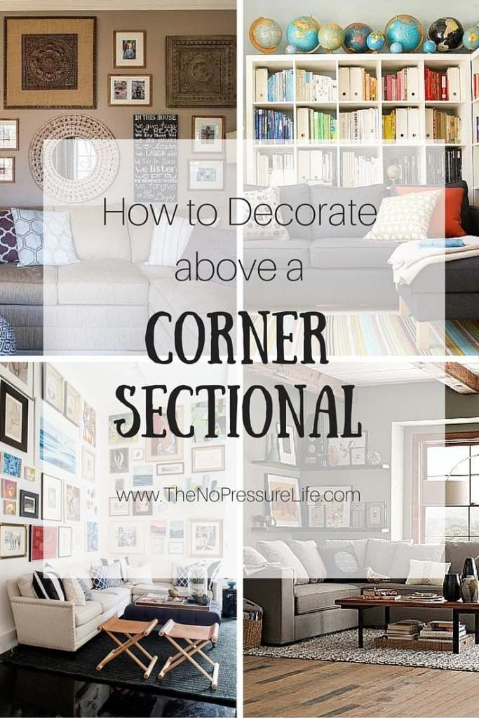 Corner sectionals are sometimes hard to decorate. Get these great tips for how to decorate above a corner sectional, plus see how a little dining room was transformed into a cozy TV room!