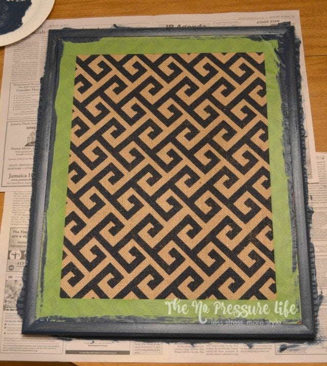 Painting a cork board frame
