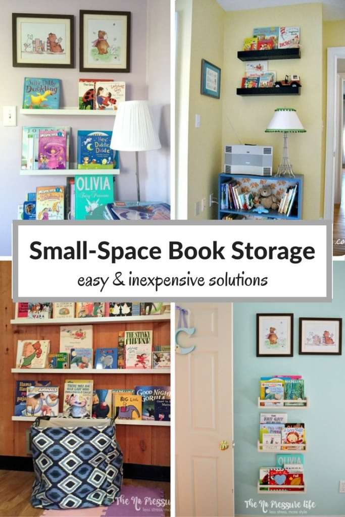 Have a lot of books and not enough space? These small space book storage ideas are easy and inexpensive, and can fit almost anywhere!