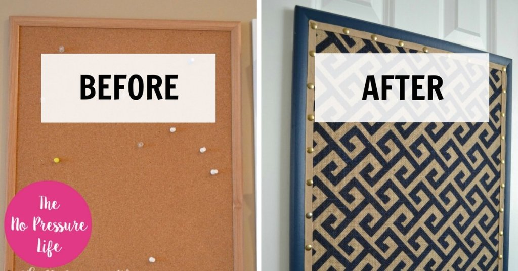Cork Board Makeover How To Transform A Cork Board In 4