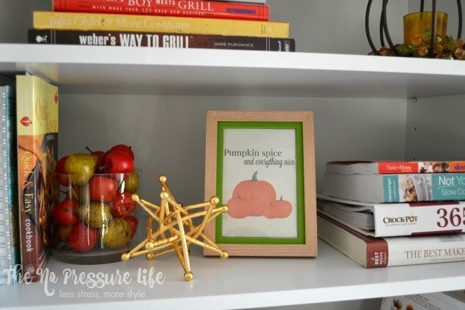 Add a cute free fall printable to your seasonal display! Download this free Pumpkin Spice and Everything Nice printable from The No Pressure Life.