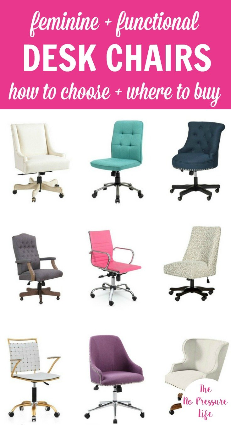 where to buy chairs chair covers wedding london 22 functional feminine desk and how choose one in different colors