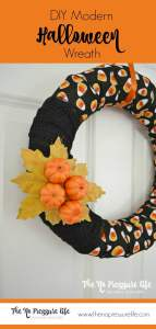 This modern Halloween wreath is an easy DIY fall craft, and us an un-scary Halloween decoration for your front door. Get the tutorial at thenopressurelife.com.