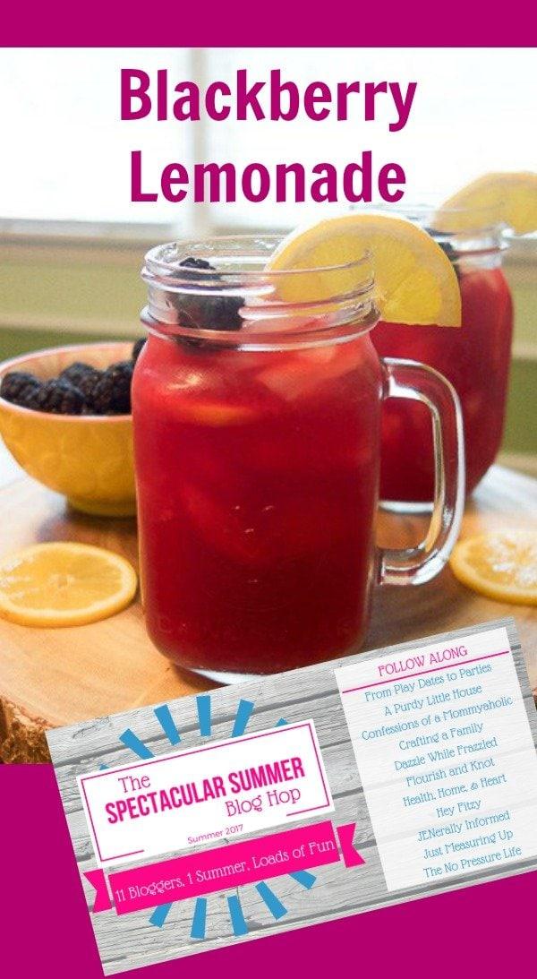 Blackberry Lemonade Recipe - delicious summer drink recipe.