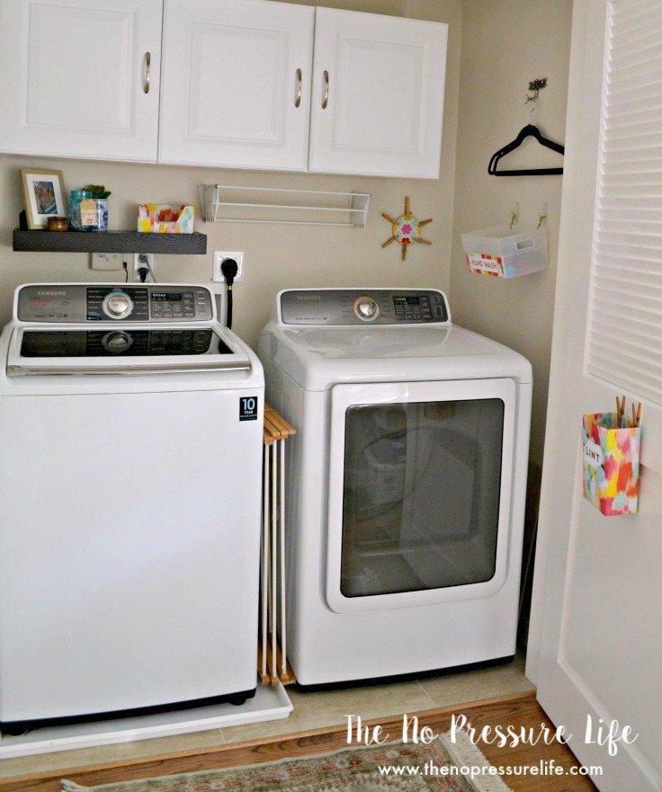 Budget laundry closet makeover