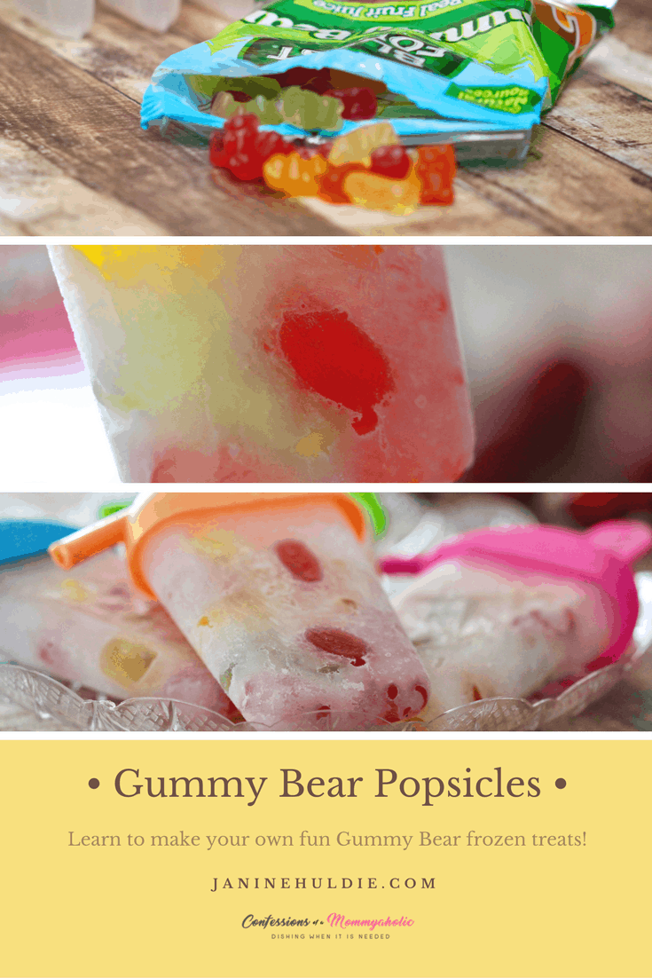 These gummy bear popsicles are a frozen treat kids will love!