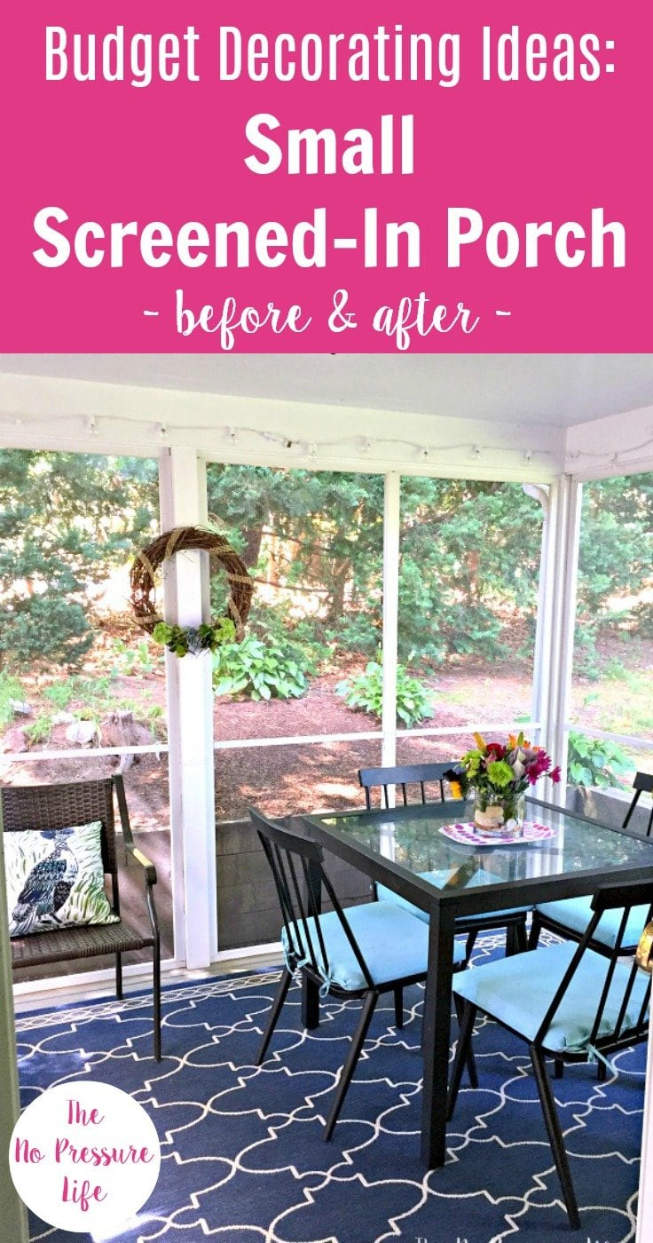 Decorating A Screened In Porch Our Budget Makeover