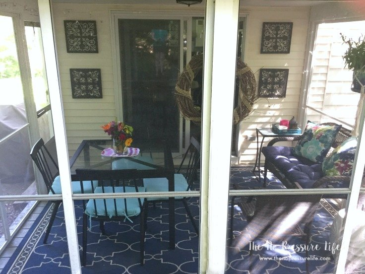 Small Screened-In Porch Makeover