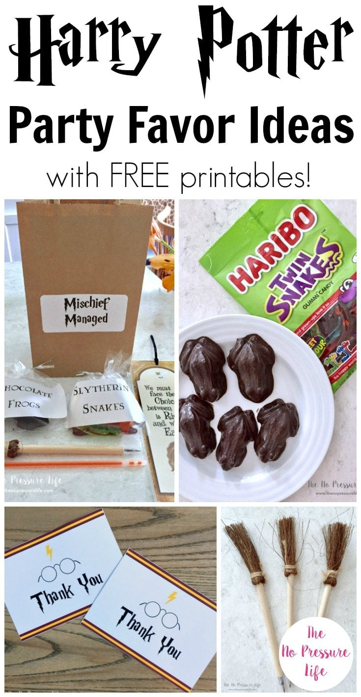 DIY Harry Potter party favor ideas and free printable thank-you notes