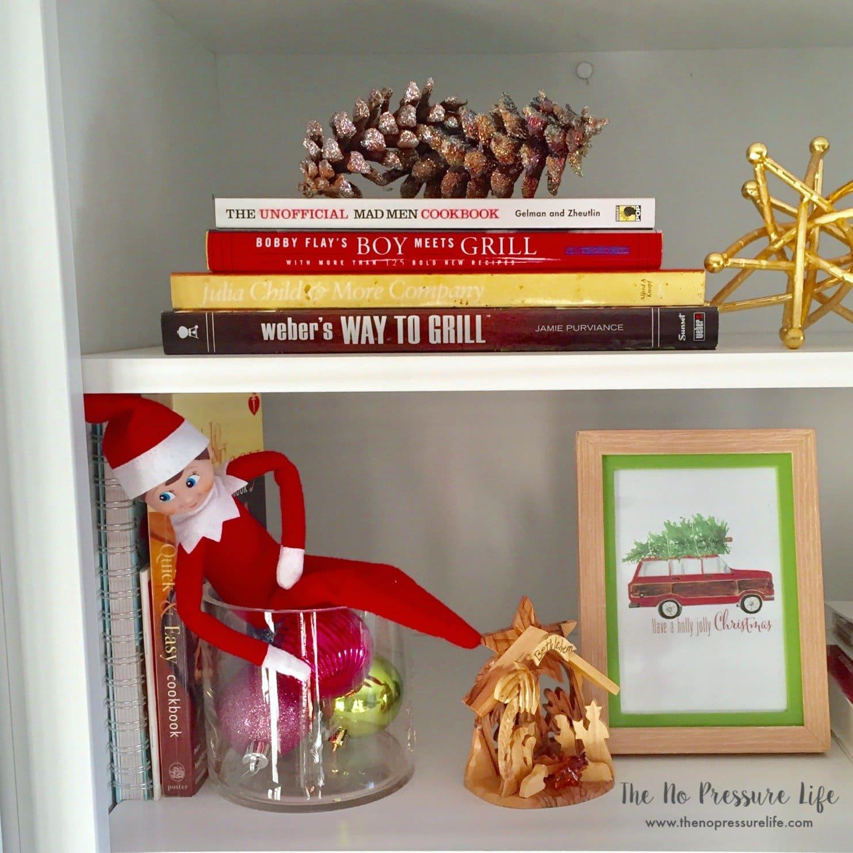 Easy Elf on the Shelf Ideas: Elf in a vase