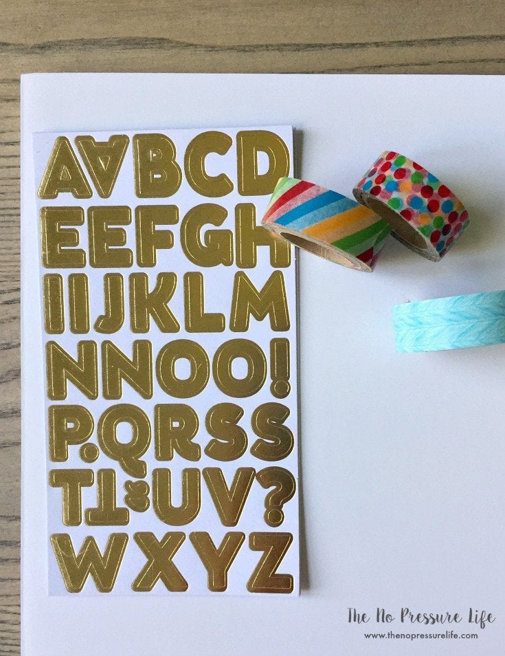 supplies to make a homemade chore chart for kids