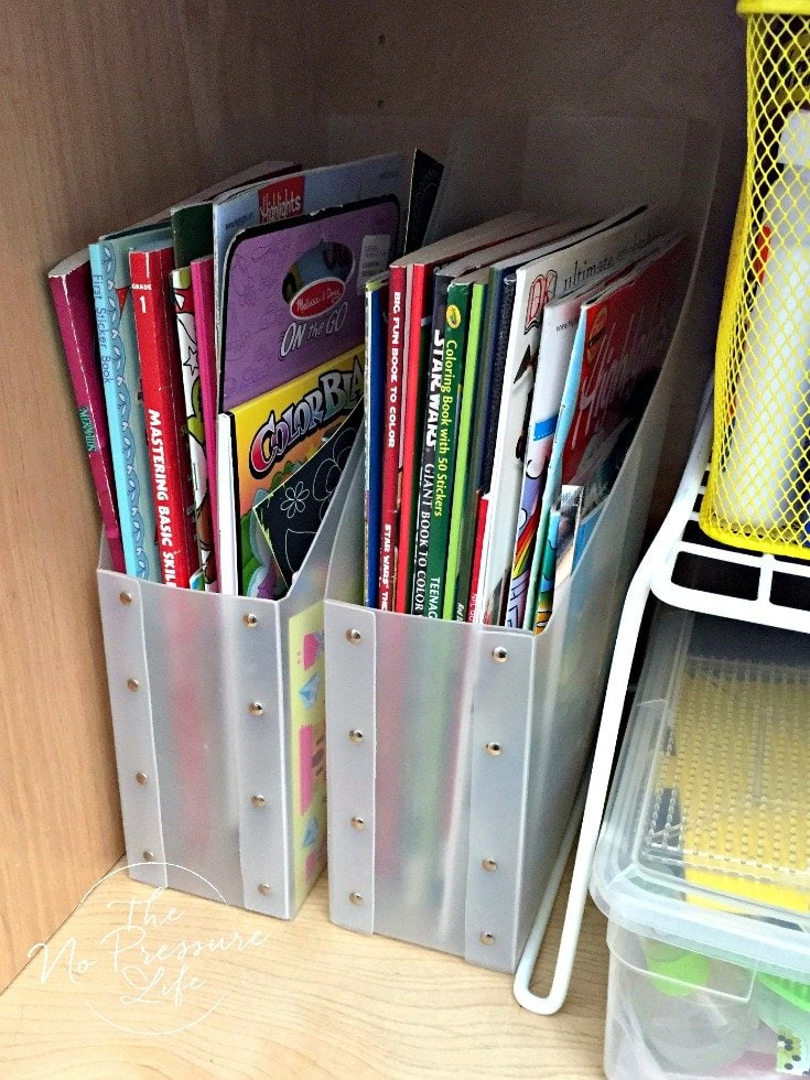 How to organize coloring books