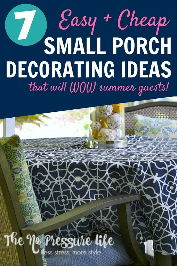 Small porch decorating ideas for a screened-in porch