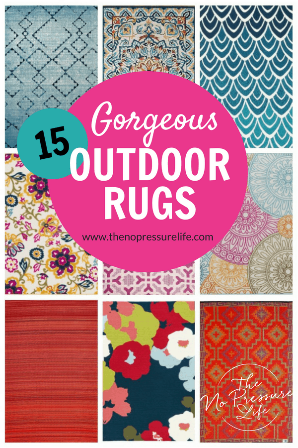 Where to buy colorful outdoor rugs - 15 bold patterns