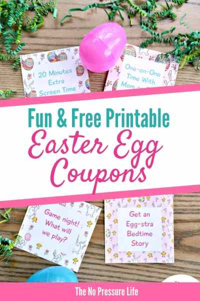 Easter Egg Coupons - Easter Coupons for Kids