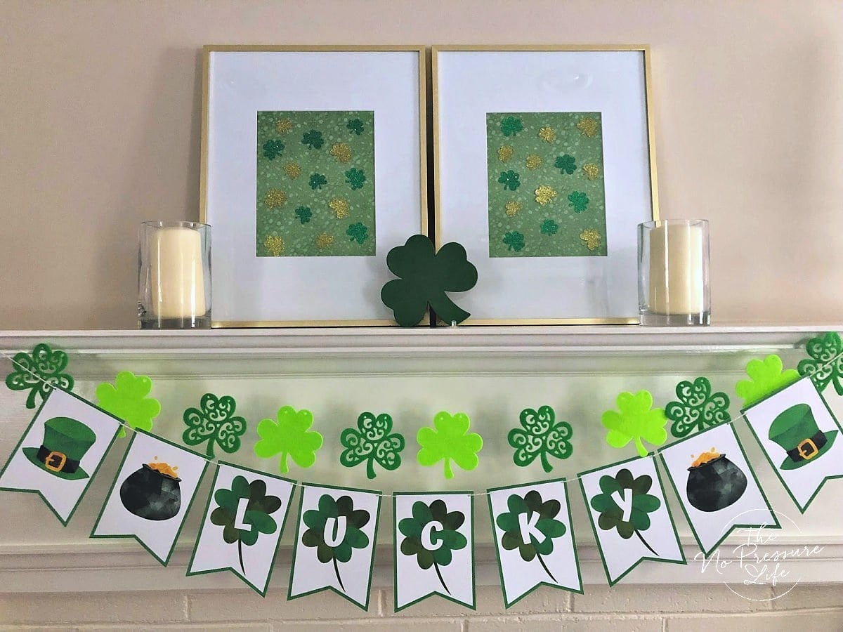 free printable LUCKY banner for St. Patrick's Day