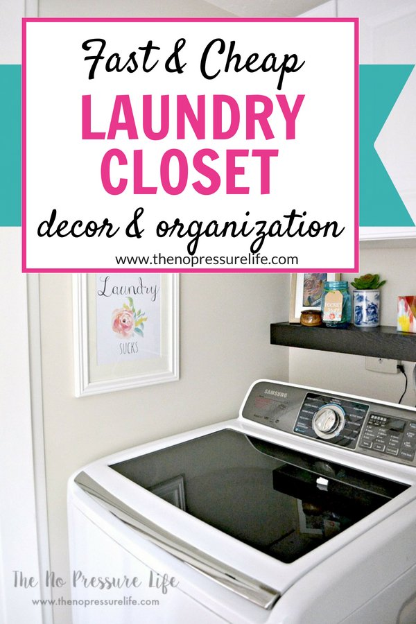 Small laundry closet makeover