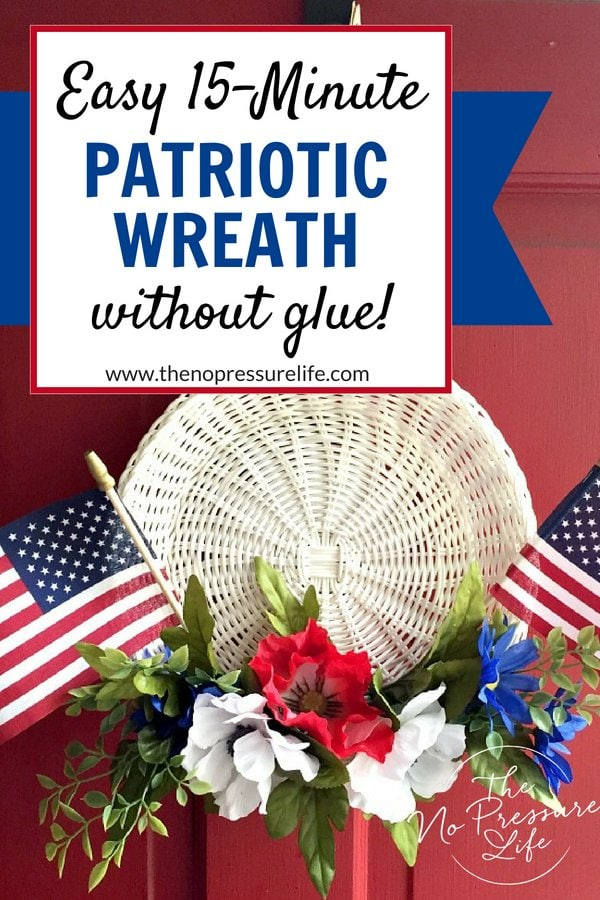 Easy DIY patriotic wreath tutorial for the 4th of July