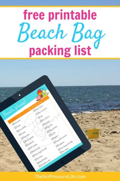 What to bring to the beach - free printable beach packing list - PDF checklist to download and print at home.
