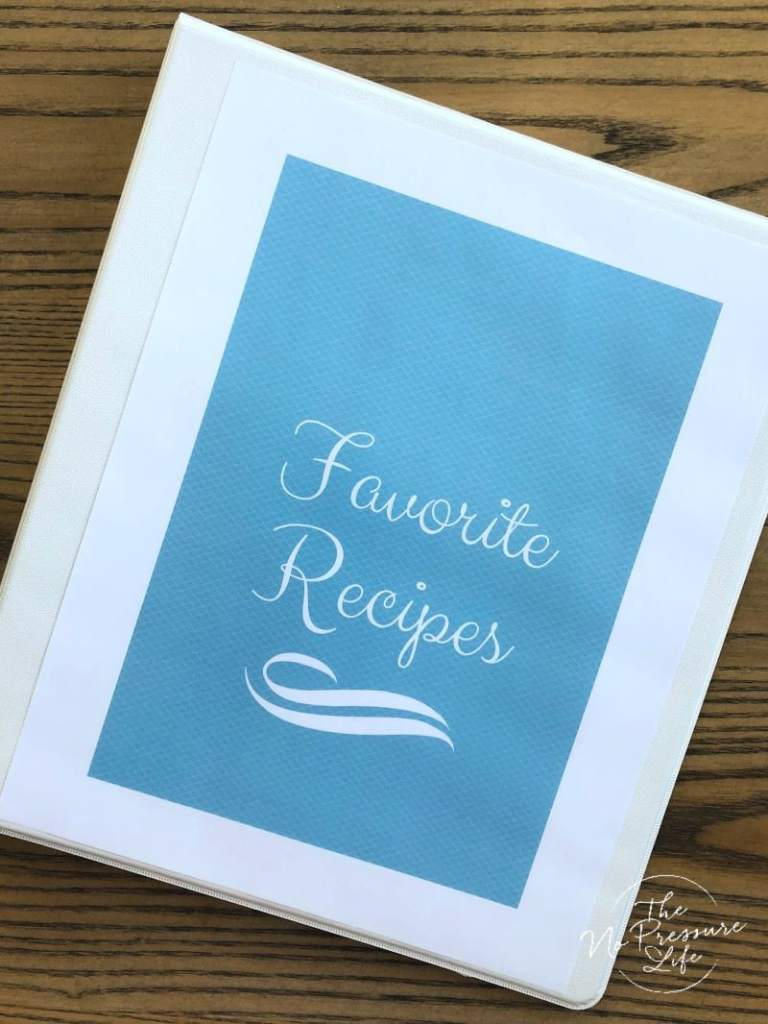 How to organize loose recipes in a binder