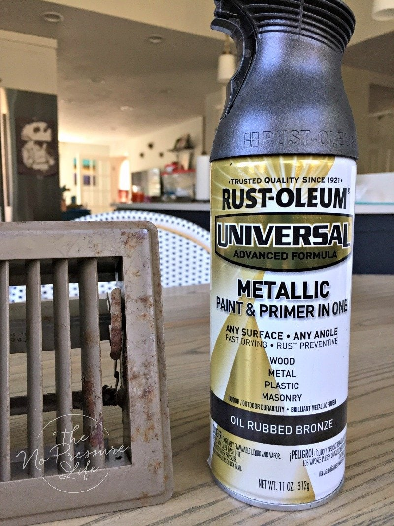How to paint metal vent covers with Rustoluem Oil-rubbed Bronze Spray Paint