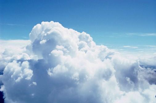 A white fluffy cloud