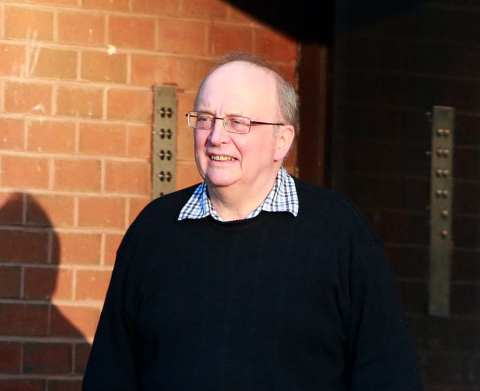 ABUSE ALLEGATIONS: Fr Michael Higginbottom outside his Jesmond home.
