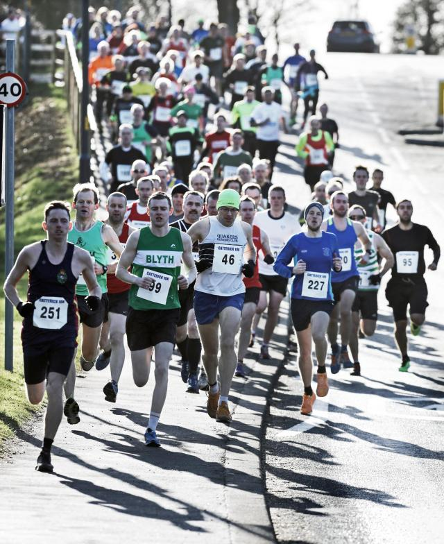 Runners in Catterick's first 10km race