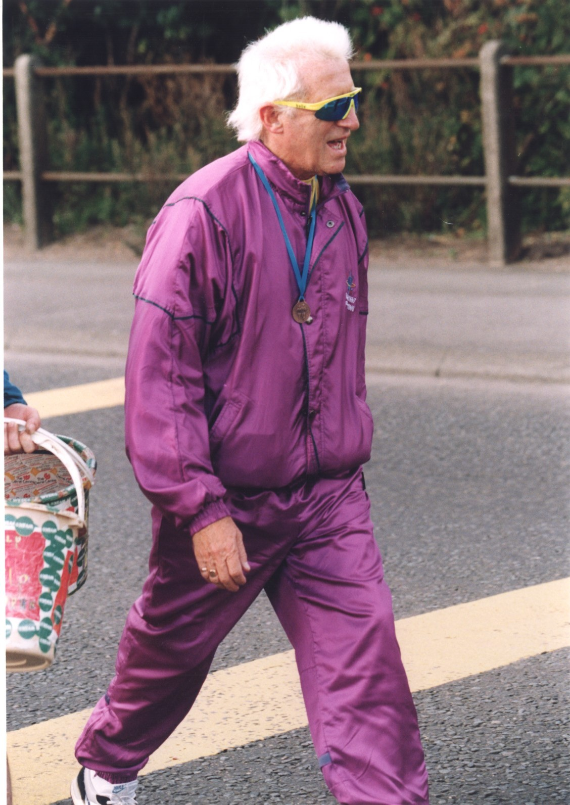 NO EVIDENCE: Jimmy Savile at the Great North Run in 2000