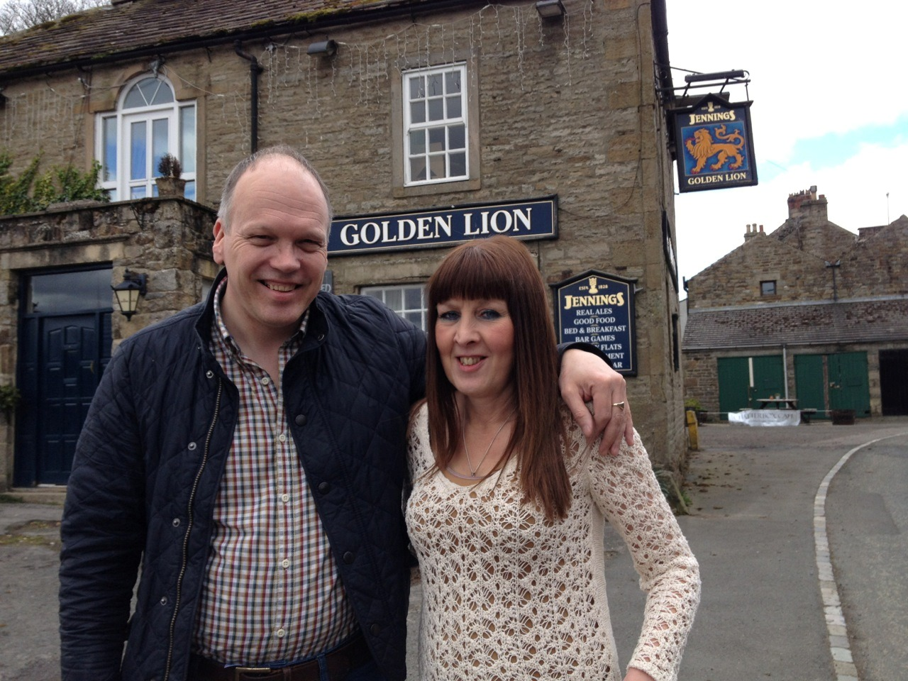 The former owners of Emmerdale's 'Woolpack' inn, Glenn and Caroline Royston