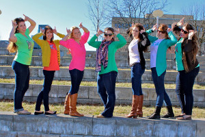 Photo courtesy of Sarah Daughtery These seven kappa Delta sisters took home third place with 397 likes.