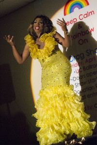 Photo by Marina Schneider Crystyle Starr hosted the annual Drag Show presented by NKU's organization Common Ground April 12 at the University Center Ballroom.