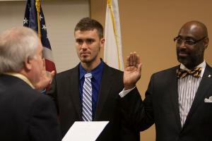 Regents sworn in at early morning meeting