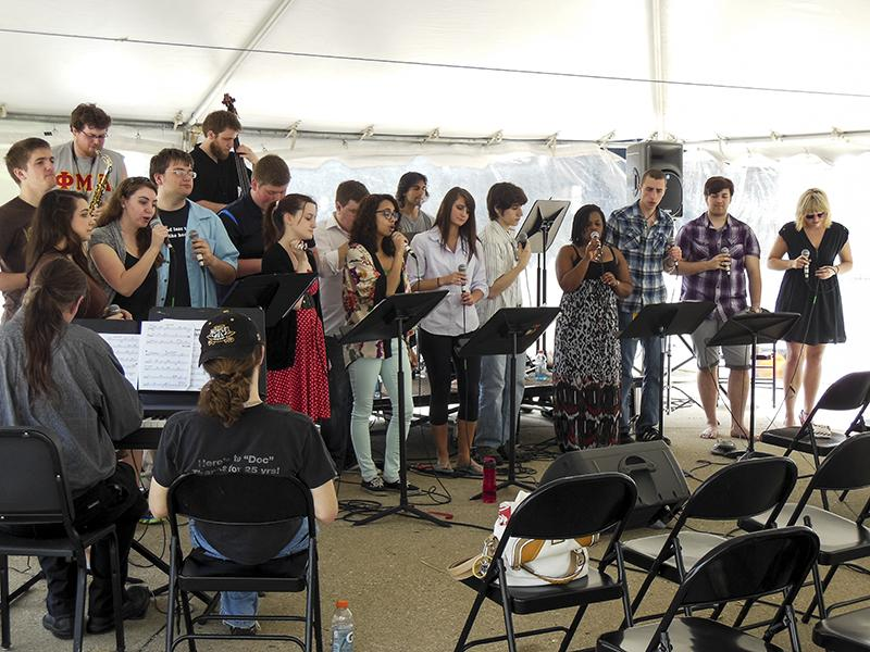 A group of students play a musical piece during 2013 Celebration.
