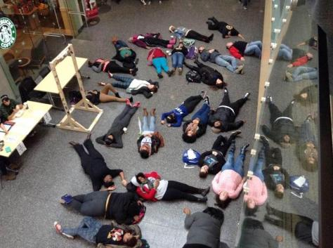 """Hands Up, Don't Shoot!"": A protest for equality hits the student union"