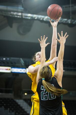 NKU forward Melody Doss shoots the ball during NKU's win over Stetson. NKU defeated Stetson 68-62 at The Bank of Kentucky Center on Jan. 29, 2015.