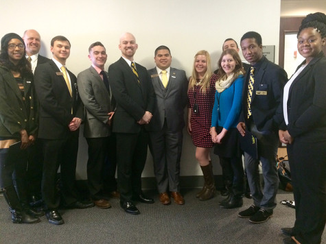 The NKU Student Government Association at the Capitol building.