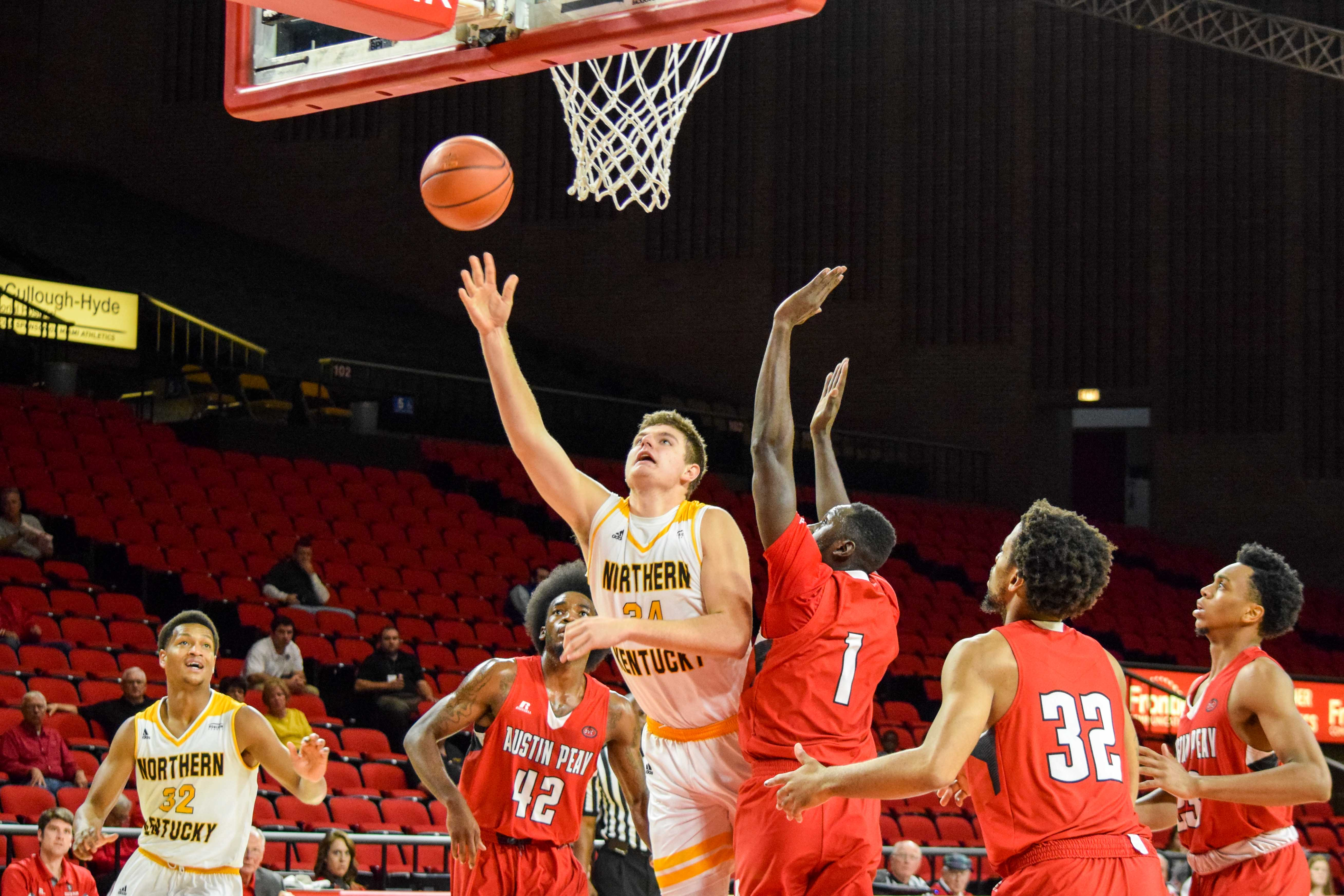 NKU's Drew McDonald (34) had a career-high 32 points Wednesday in a win over Morehead State.