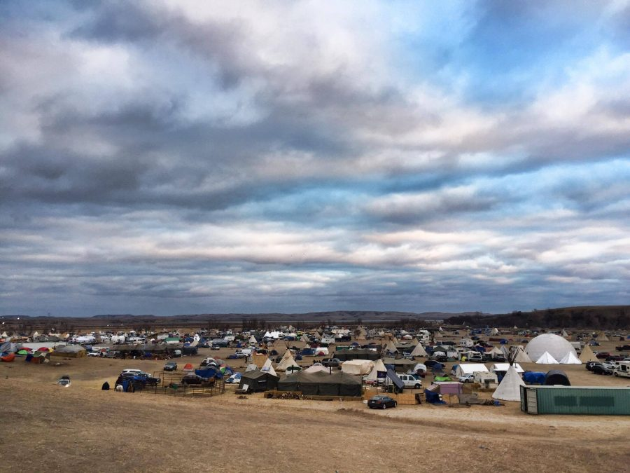 Tents and shelters are dropped wherever there is space at Oceti Sakowin.