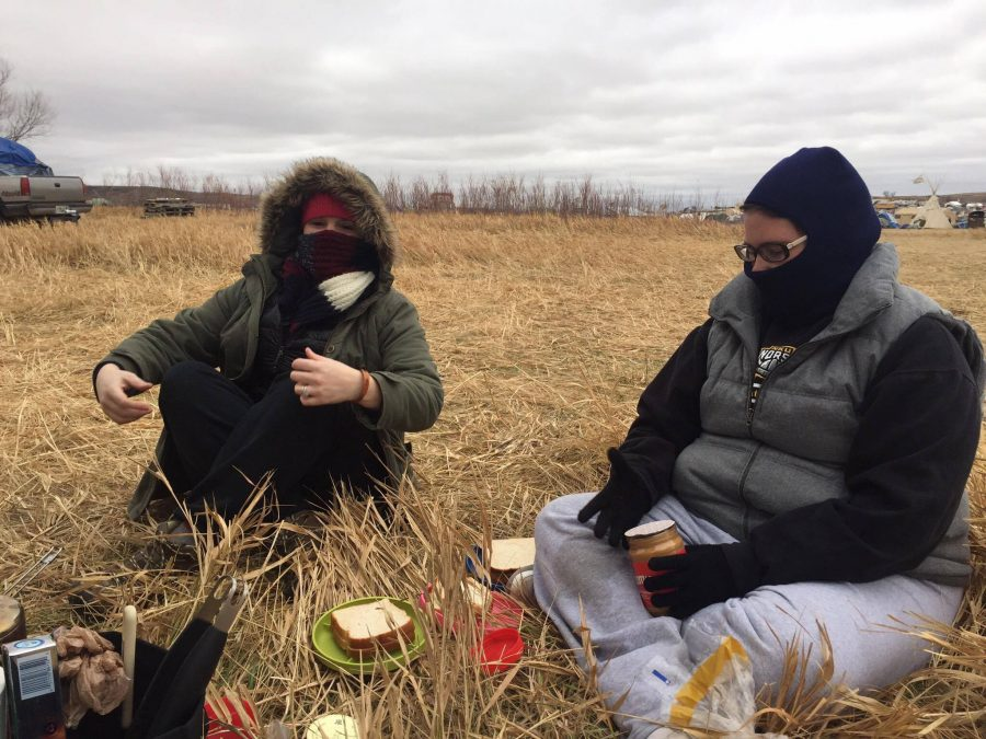 Ellison, her brother Alan Seifert, and friend Gina Shenefelt camped with thousands of others to protest the Dakota Access Pipeline.
