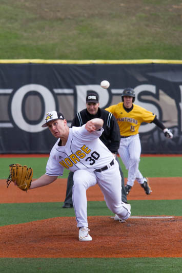 Charlie Jerger gave up seven runs in game 3 of the series against UC