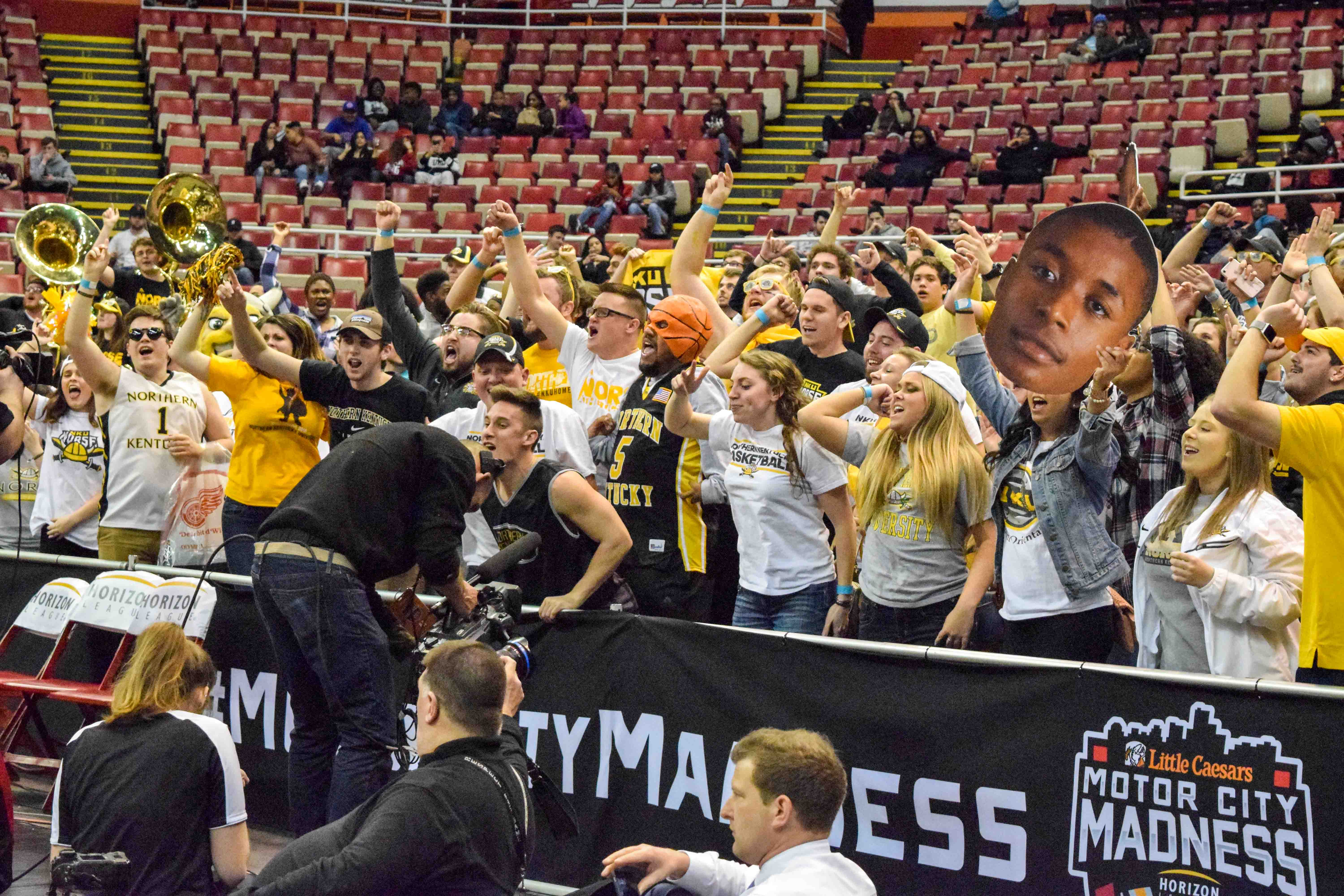 Norse Force president Turner Davidson hopes to see more student crowds like the one at the Horizon League tournament this season.