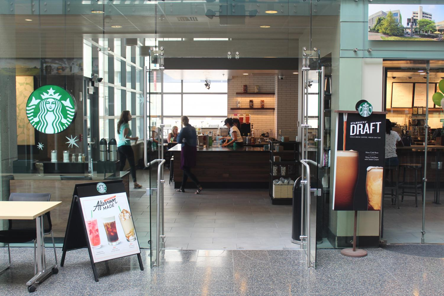 The newly-renovated Starbucks in the Student Union is open 7 a.m. to 9 p.m. weekdays through the semester.