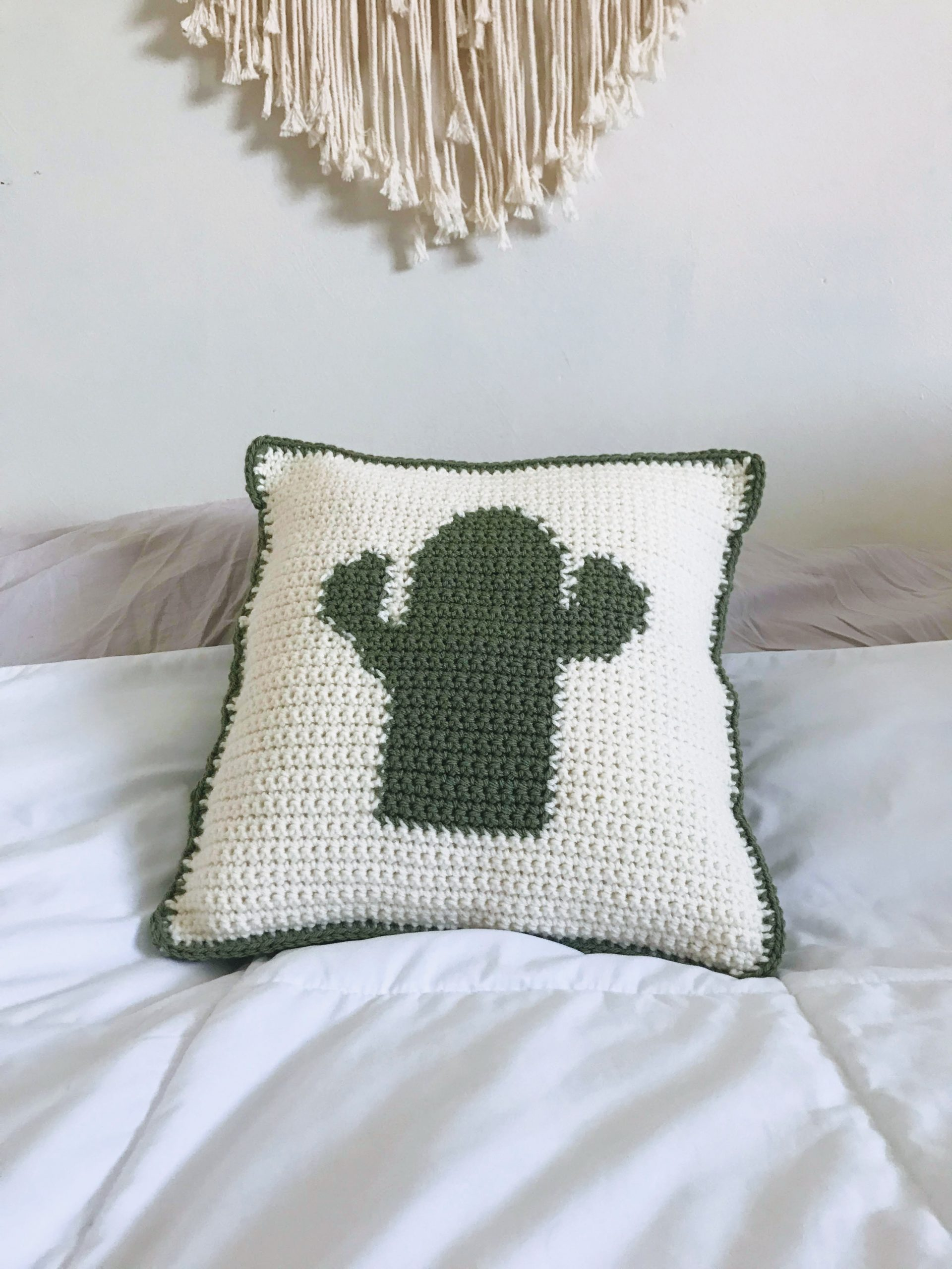 Cactus Pillow Crochet Pattern