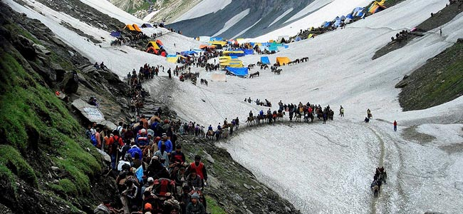 Image result for Over 4,000 pilgrims leave Jammu for Amarnath Yatra