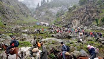 Amarnath Yatra suspended from Jammu due to bad weather - Northlines